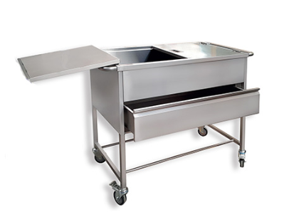 Endoscope washing trolley