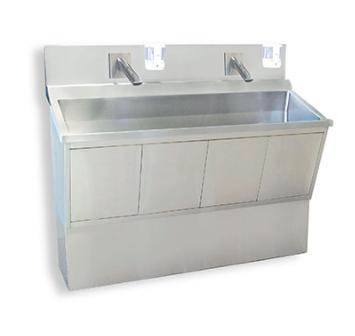 Double station scrub sink