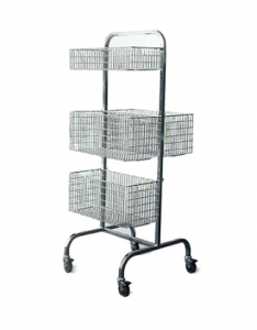 Wire basket trolley
