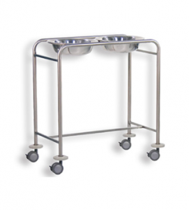 Double wash basin trolley