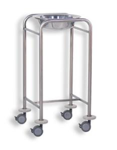 Single wash basin trolley