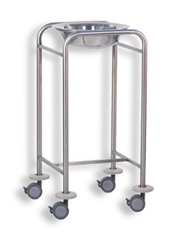 Single wash basin trolley