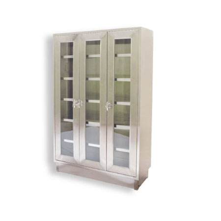 Upright Cabinet 3 Hinged Glass Doors
