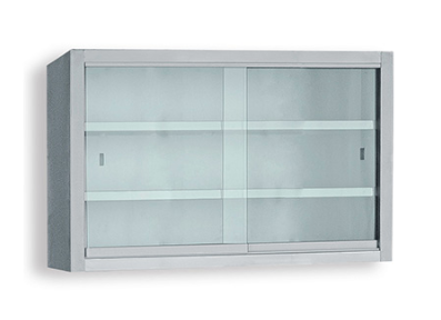 Wall Cabinet With Glass Sliding Doors