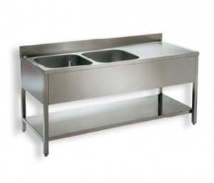Single bowl sink unit
