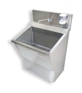 Single station scrub sink