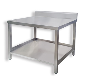 Work table with side lipping