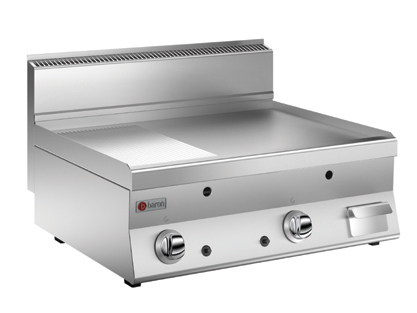 GAS GRIDDLE WITH 1/2 SMOOTH