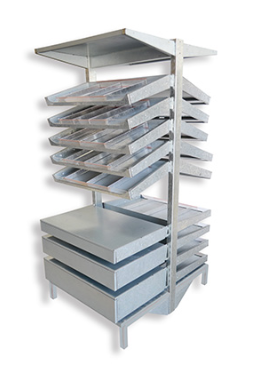 PHARMACY SHELVING WITH SLIDING DRAWER